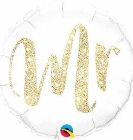 """Mr. Glitter Gold 18"""" Mylar Balloon"""