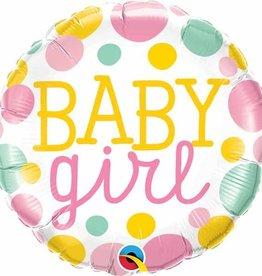 """Baby Girl Dots 18"""" Mylar Balloon"""