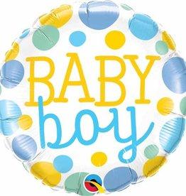 """Baby Boy Dots 18"""" Mylar Balloon"""