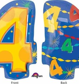 "#4 Multicolour Shape Mylar 18"" Balloon"