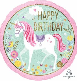 "Magical Unicorn Birthday 18"" Mylar Balloon"