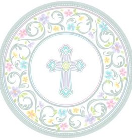 """Blessed Day Round Plates, 10 1/2"""" (18)"""