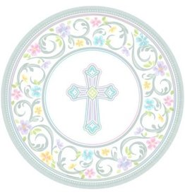 "Blessed Day Round Plates, 10 1/2"" (18)"