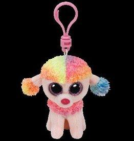 Beanie Boos Dog Rainbow Keychain