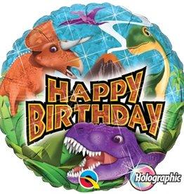 "Birthday Dinosaur 18"" Mylar Balloon"