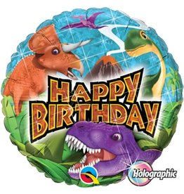 "Birthday Dinosaur 18"" Mylar Balloon"