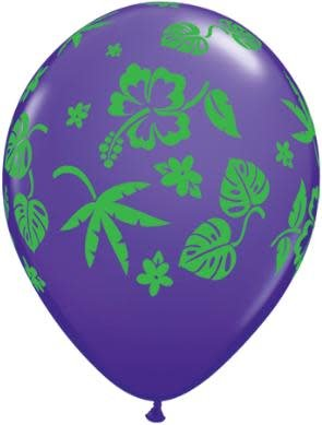 """11"""" Tropical Flora Balloons Uninflated"""