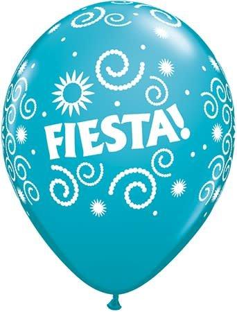"11"" Printed Fiesta Swirls Balloon 1 Dozen Flat"