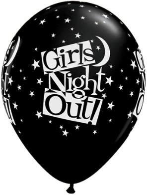 """11"""" Printed Girls Night Out Stars Balloon 1 Dozen Uninflated"""
