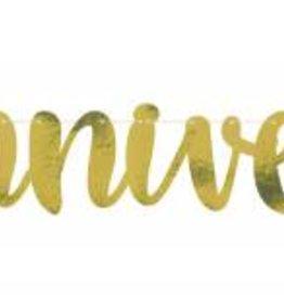 50th Anniversary Script Banner Gold