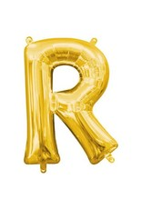 """Air-Filled Letter """"R""""- Gold Balloon"""