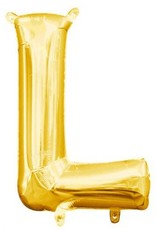 """Air-Filled Letter """"L""""- Gold Balloon"""