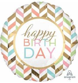 """Birthday Pastel Celebration 28"""" Mylar Balloon"""