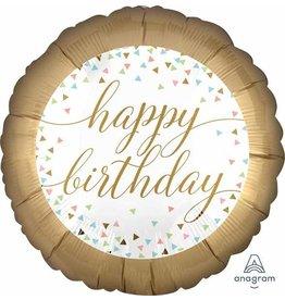 "Birthday Pastel Confetti 18"" Mylar Balloon"