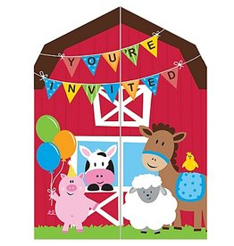 FarmHouse Fun Party Invitations (8)