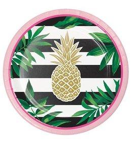Pineapple Wedding Dessert Plates (8)
