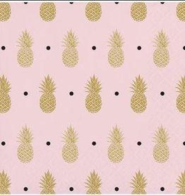 Pineapple Wedding Foil Stamped Beverage Napkins (16)