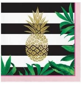 Pineapple Wedding Foil Stamped Luncheon Napkins (16)