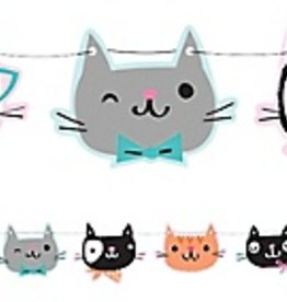 Purr-Fect Party Shaped Ribbon Banner