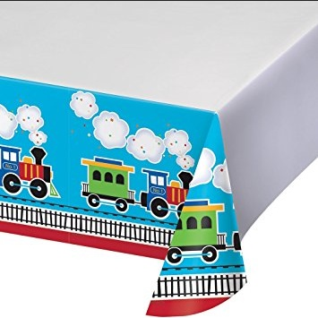 All Aboard Plastic Tablecover