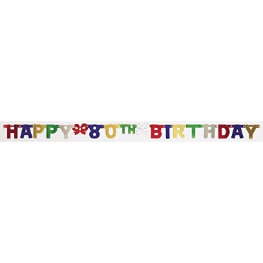 80th Birthday Banner