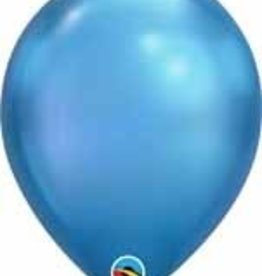 "11"" Chrome Blue Qualatex Balloon 1 Dozen Flat"
