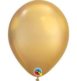 "11"" Chrome Gold Qualatex Balloon 1 Dozen Flat"