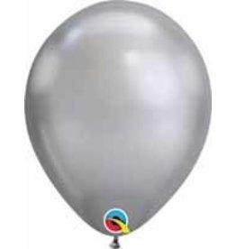 "11"" Chrome Silver Qualatex Balloon 1 Dozen Flat"