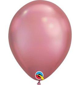 """11"""" Chrome Mauve Qualatex Balloon 1 Dozen Flat"""