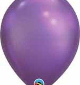 "11"" Chrome Purple Qualatex Balloon 1 Dozen Flat"