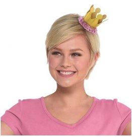 Confetti Fun Mini Crown Hair Clip - Gold, Prismatic
