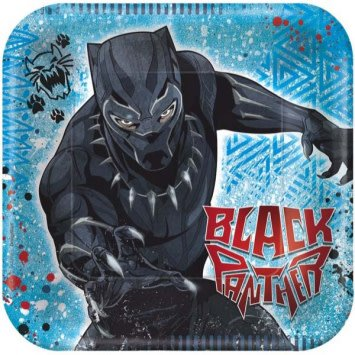 "Marvel Black Panther™ Square Plates, 7"" (8)"