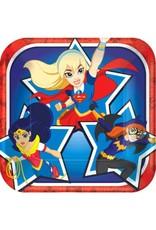 "DC Super Hero Girls™ Square Plates, 7"""