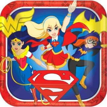 "DC Super Hero Girls™ Square Plates, 9"""