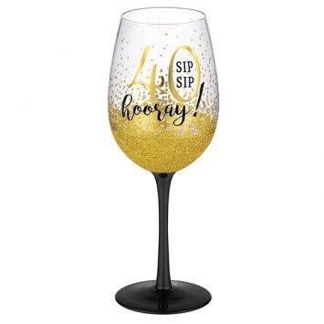 """""""40"""" Wine Glass"""