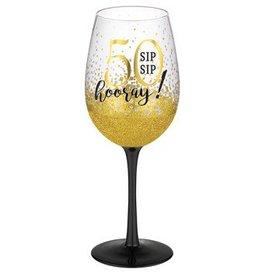 """""""50"""" Wine Glass"""