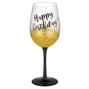 """Happy Birthday"" Wine Glass"