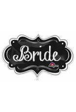 "Bride Chalkboard Marquee 27"" Mylar Balloon"