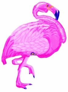 "Flamingo Beach 35"" Mylar Balloon"
