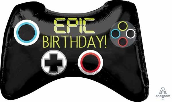 """Mylar 28"""" Epic Party Game Controller Balloon"""