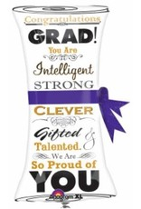 "Grad Scroll 31"" Mylar Balloon"
