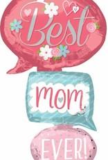 Mylar Best Mom Ever Bubble Multi Balloon