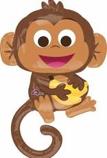 "Happy Monkey 36"" Mylar  Balloon"