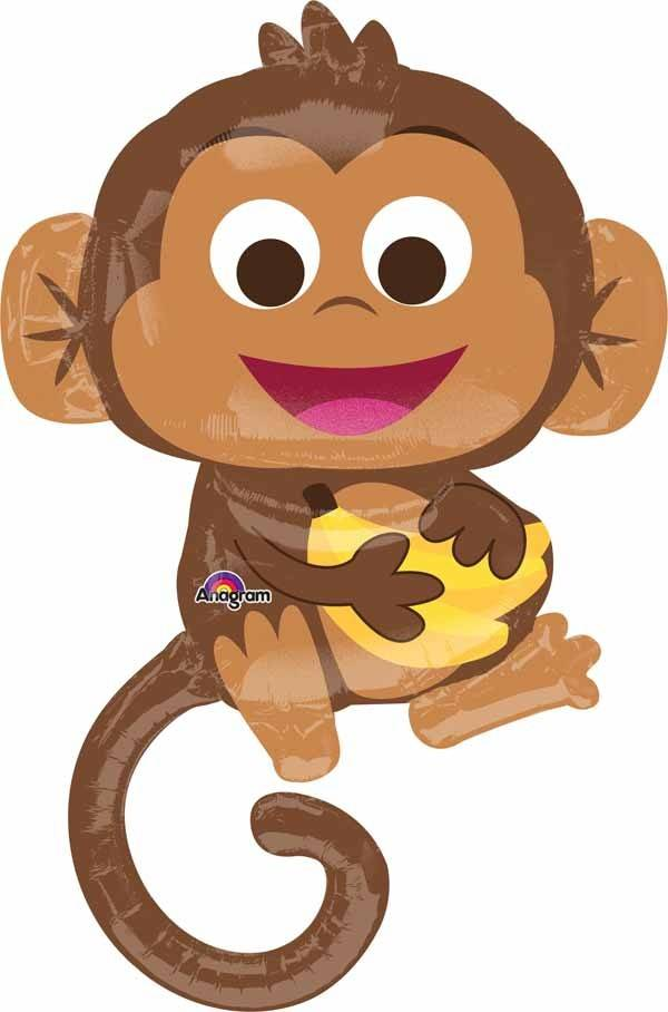 "Mylar Happy Monkey 36"" Balloon"