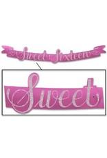 Sweet Sixteen Banner 3 1/2 Feet