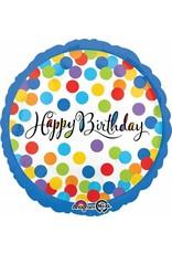 "Confetti Bash Birthday 18"" Mylar Balloon"