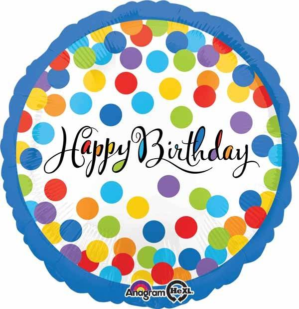 "Confetti Bash Birthday 18"" Mylar Balloon"