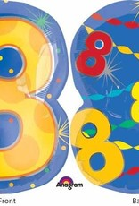 "#8 Multicolour Shape Mylar 18"" Balloon"