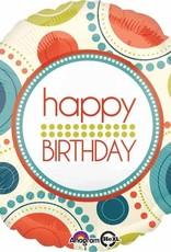 """Birthday Circle Fun 18"""" Mylar Balloon"""