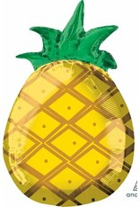 "Tropical Pineapple 18"" Mylar Balloon"